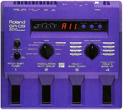ROLAND GR-09 GUITAR SYNTH QUICK GUIDE - MANUAL